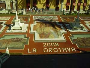 LAS ALFOMBRAS DE  FLORES Y ARENAS DE LA VILLA DE LA OROTAVA